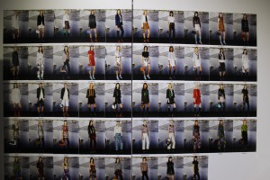 Backstage... photographs of the models 48 models that participated in the runway presentation.